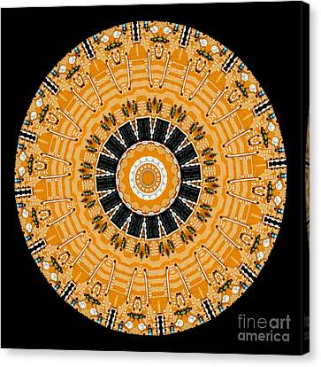 Motherboard Canvas Print - Kaleidoscope Of Computer Circuit Board by Amy Cicconi
