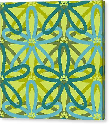 Kaleidoscope Of Flowers Canvas Print by Lisa Noneman