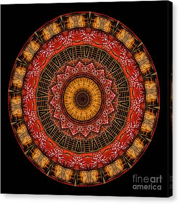 Kaleidoscope Of Graffiti Wall On Building Canvas Print by Amy Cicconi
