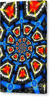 Kaleidoscope Of Primary Colors Canvas Print by Amy Cicconi
