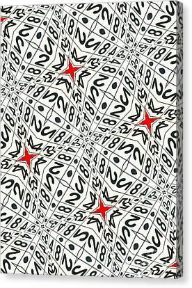 Kaleidoscope Random Numbers Canvas Print by Amy Cicconi
