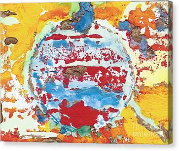 Kaleidoscope - Red White And Blue Canvas Print