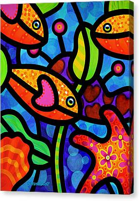 Kaleidoscope Reef Canvas Print