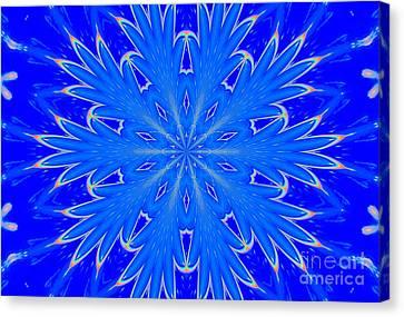 Kaleidoscope Snowflake Canvas Print