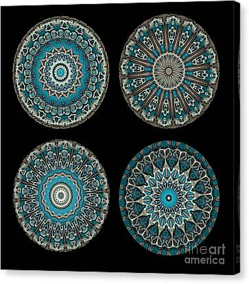 Kaleidoscope Steampunk Series Montage Canvas Print by Amy Cicconi