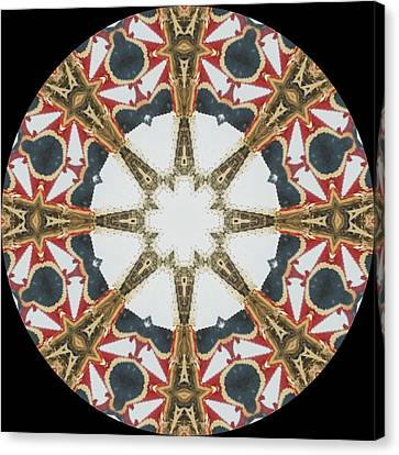 Kaleidoscope Wheel Canvas Print by Cathy Lindsey