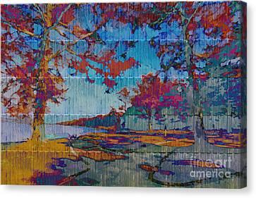 Florid Canvas Print - Kaleidoscopic Autumn Scene Iv by Beverly Claire Kaiya