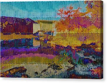 Florid Canvas Print - Kaleidoscopic Autumn Scene V by Beverly Claire Kaiya