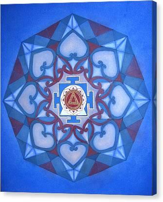 Kali Yantra Canvas Print - Kalima Mandala by Mavis Gewant
