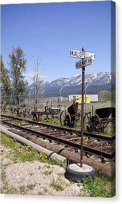 Kalispell Crossing Canvas Print by Fran Riley