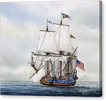 Tall Ship Canvas Print - Kalmar Nyckel by James Williamson