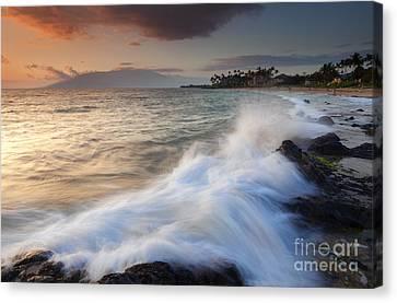 Maui Canvas Print - Kamaole Beach Dusk by Mike  Dawson