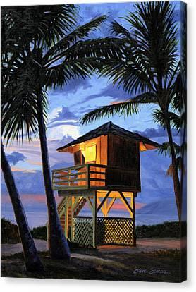 Kamaole Beach - Nocturne Canvas Print by Steve Simon
