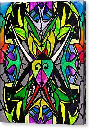 Swans... Canvas Print - Kambo by Teal Eye  Print Store