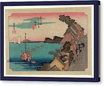 Kanagawa, Ando Between 1833 And 1836, Printed Later Canvas Print