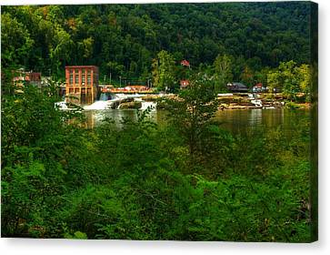 Canvas Print featuring the photograph Kanawha Falls by Dave Files