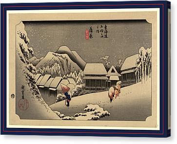 Kanbara, Ando Between 1833 And 1836, Printed Later Canvas Print by Utagawa Hiroshige Also And? Hiroshige (1797-1858), Japanese