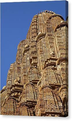 Kandariya Mehedeva Temple At Khajuraho In India Canvas Print