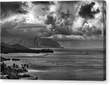 Kaneohe Bay And Kualoa Canvas Print