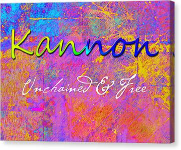 Kannon - Unchained And Free Canvas Print by Christopher Gaston