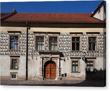 Kanonicza Street And The Archdiocese Canvas Print by Panoramic Images
