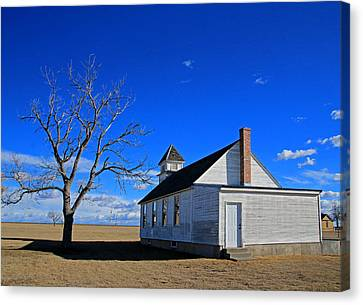 Kansas Church Canvas Print by Christopher McKenzie