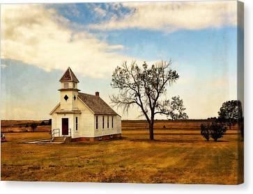 Kansas Church Canvas Print by Marty Koch