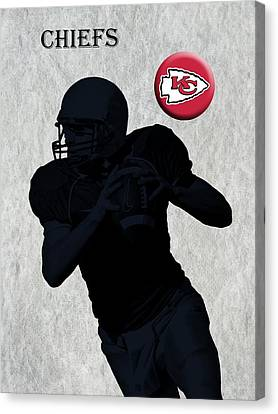 Kansas City Chiefs Football Canvas Print by David Dehner