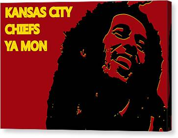Kansas City Chiefs Ya Mon Canvas Print by Joe Hamilton
