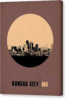Kansas City Circle Poster 2 Canvas Print by Naxart Studio