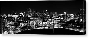 Kansas City In Black And White Canvas Print