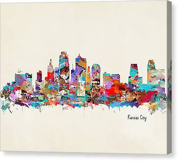 Kansas City Canvas Print - Kansas City Missouri by Bleu Bri