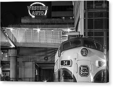 Kansas City Night Train Canvas Print by Steven Bateson