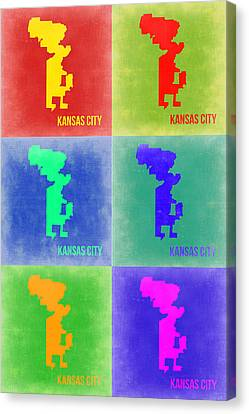 Kansas City Pop Art 1 Canvas Print by Naxart Studio