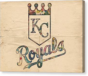Kansas City Canvas Print - Kansas City Royals Poster Vintage by Florian Rodarte