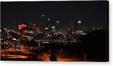 Kansas City Skyline 3 Canvas Print by Shelley Wood