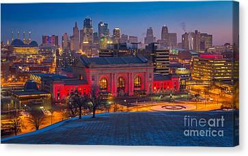 Kansas City Skyline Canvas Print by Inge Johnsson