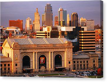 Kansas City Skyline Canvas Print by James Kirkikis