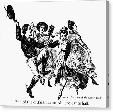 Kansas: Dance Hall Canvas Print by Granger