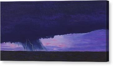 Kansas Lightning Storm Canvas Print by Garry McMichael