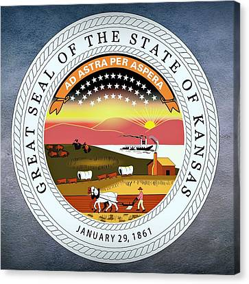Kansas State Seal Canvas Print by Movie Poster Prints