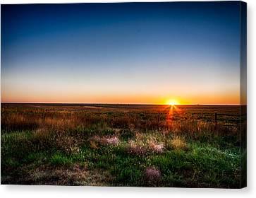 Kansas Sunrise Canvas Print by Jay Stockhaus