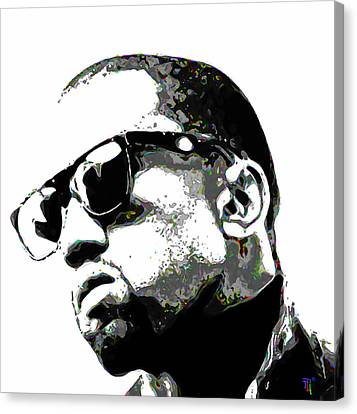 Entertainer Canvas Print - Kanye West by  Fli Art