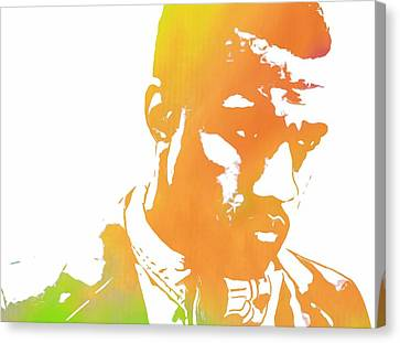 Kanye West Pop Art Canvas Print by Dan Sproul