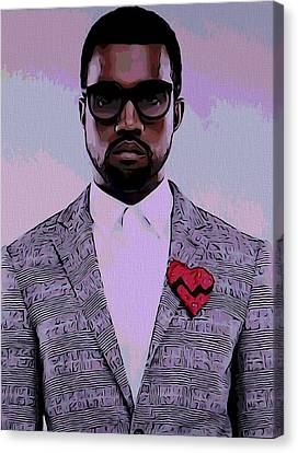 Kanye West Poster Canvas Print by Dan Sproul