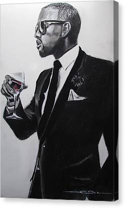 Kanye West - I'm Just Amazing Canvas Print by Eric Dee
