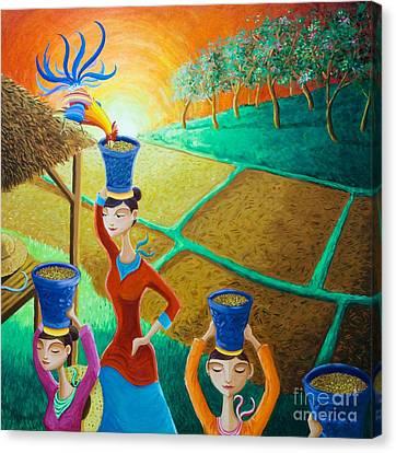 Kapag Palay Na Lumapit Sa Manok Canvas Print by Paul Hilario