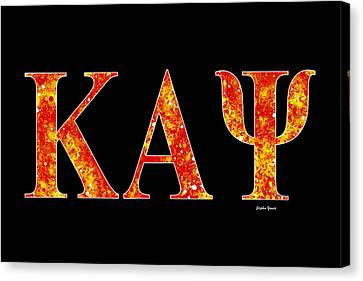 Kappa Alpha Psi - Black Canvas Print by Stephen Younts