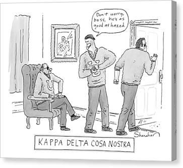 Kappa Delta Cosa Nostra: 'don't Worry Canvas Print by Danny Shanahan