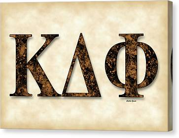 Kappa Delta Phi - Parchment Canvas Print by Stephen Younts